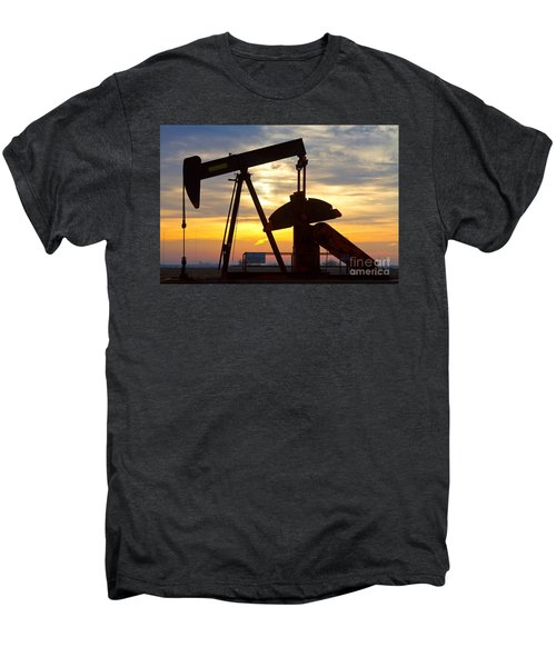 Oil Pump Sunrise Men's Premium T-Shirt by James BO  Insogna