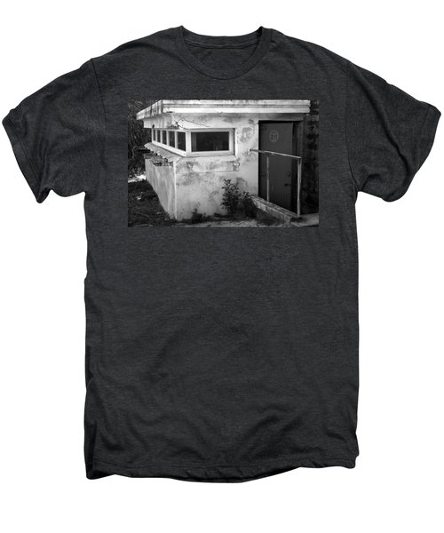 Men's Premium T-Shirt featuring the photograph Old Army Lookout by Miroslava Jurcik
