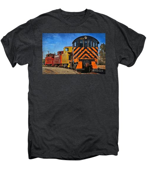 On The Tracks Men's Premium T-Shirt by Peggy Hughes