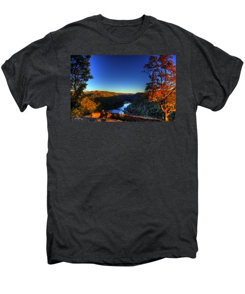 Men's Premium T-Shirt featuring the photograph Overlook In The Fall by Jonny D