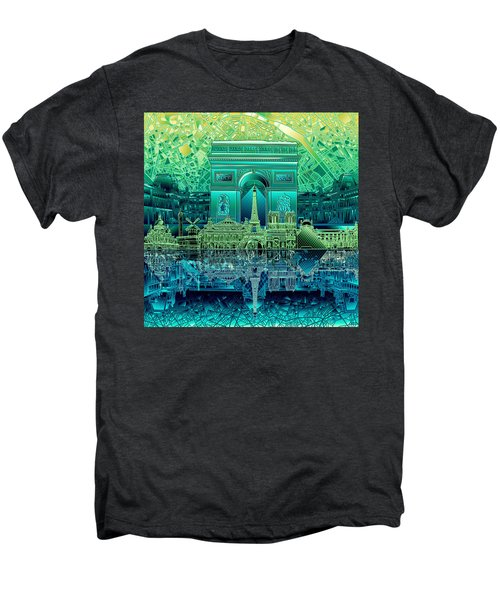 Paris Skyline Landmarks 6 Men's Premium T-Shirt