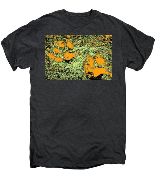 Paw Prints In Orange Lime And Black Men's Premium T-Shirt