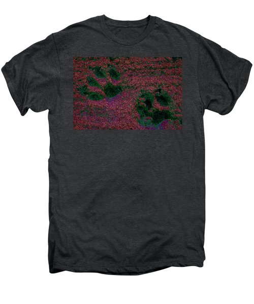 Paw Prints In Red And Green Men's Premium T-Shirt