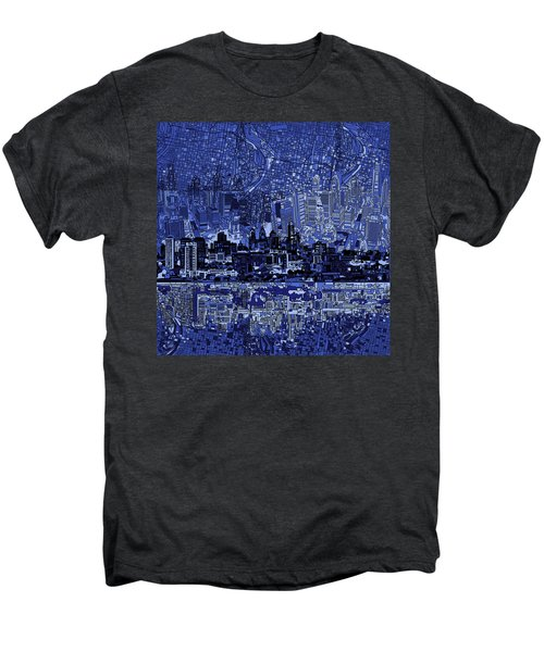 Philadelphia Skyline Abstract 2 Men's Premium T-Shirt