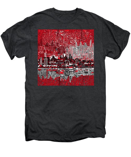 Philadelphia Skyline Abstract 4 Men's Premium T-Shirt