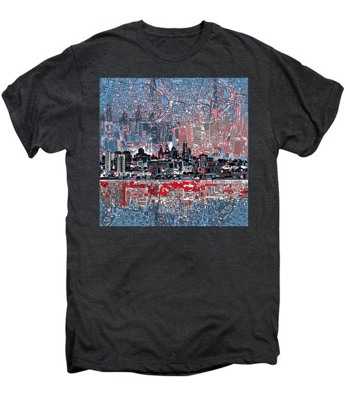 Philadelphia Skyline Abstract Men's Premium T-Shirt