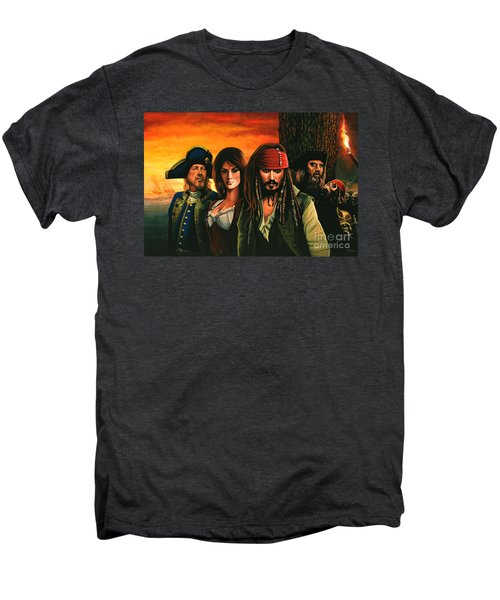 Pirates Of The Caribbean  Men's Premium T-Shirt by Paul Meijering