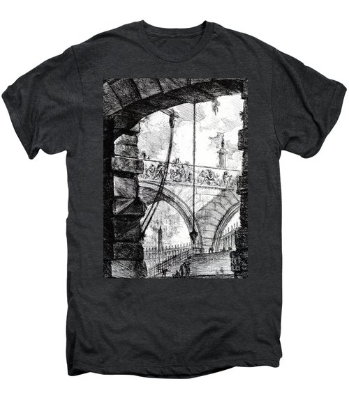 Plate 4 From The Carceri Series Men's Premium T-Shirt