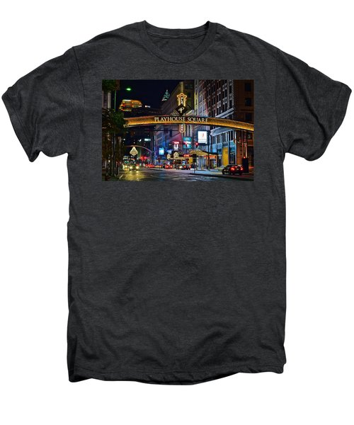 Playhouse Square Men's Premium T-Shirt by Frozen in Time Fine Art Photography