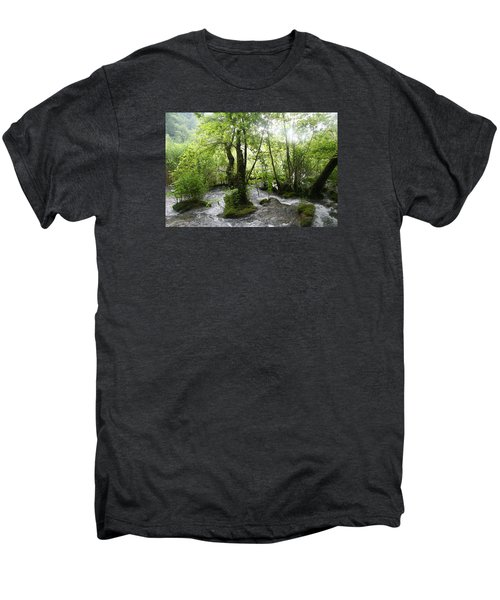 Men's Premium T-Shirt featuring the photograph Plitvice Lakes by Travel Pics