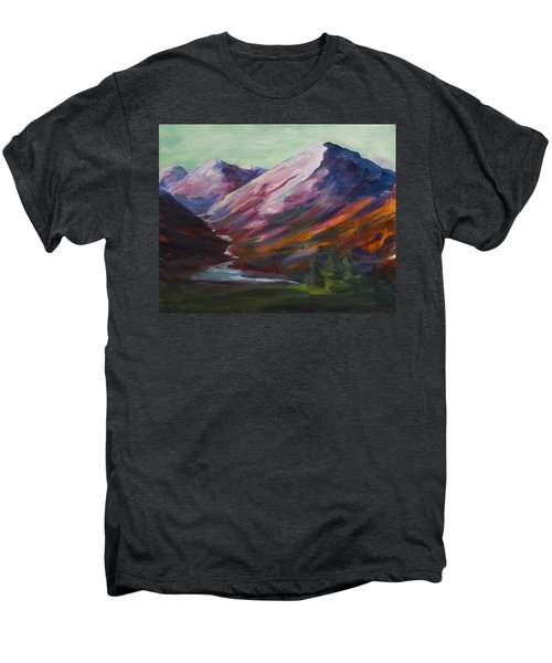 Red Mountain Surreal Mountain Lanscape Men's Premium T-Shirt