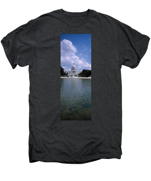 Reflecting Pool With A Government Men's Premium T-Shirt by Panoramic Images