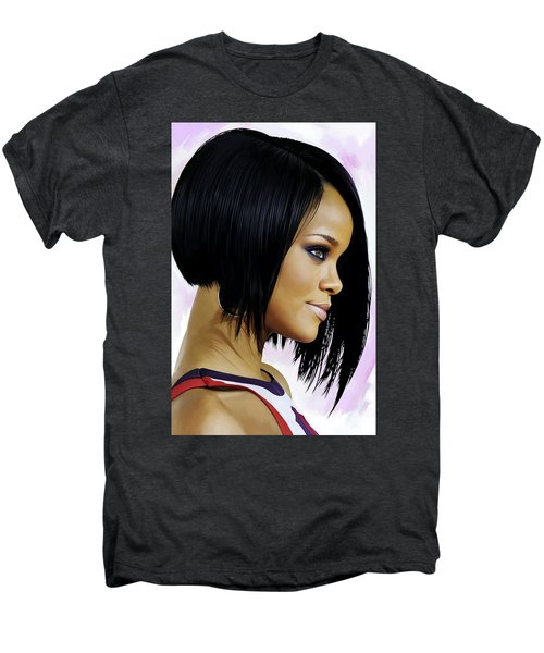 Rihanna Artwork Men's Premium T-Shirt by Sheraz A