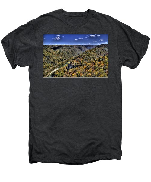 River Running Through A Valley Men's Premium T-Shirt