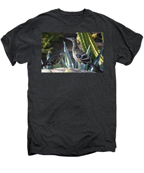 Roadrunners At Play  Men's Premium T-Shirt by Saija  Lehtonen