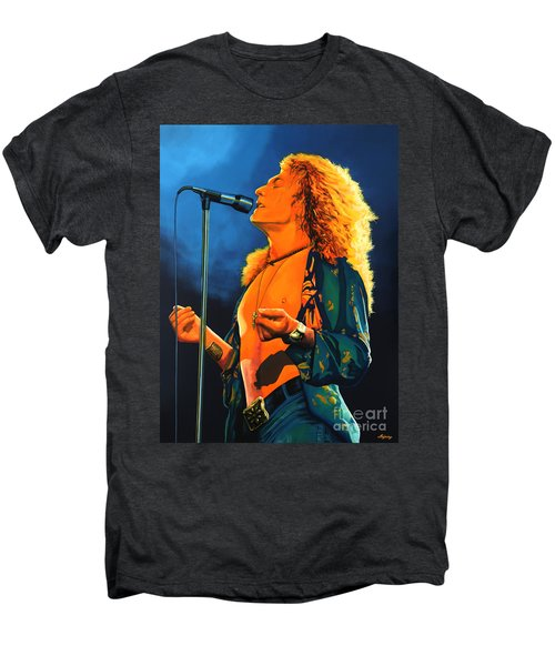 Robert Plant Men's Premium T-Shirt by Paul Meijering