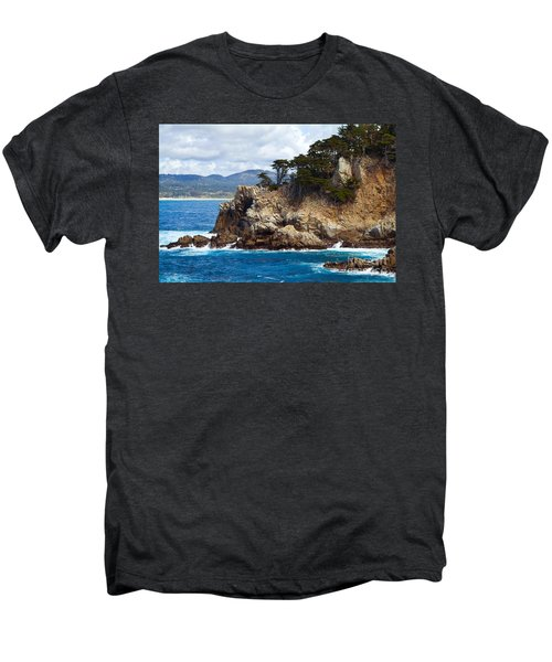 Rocky Outcropping At Point Lobos Men's Premium T-Shirt