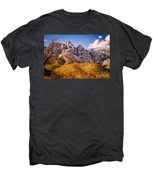 Men's Premium T-Shirt featuring the photograph Rocky Peaks by Mark Myhaver