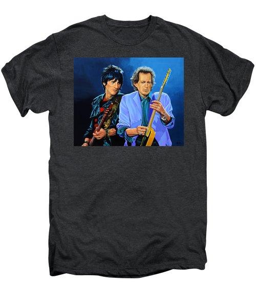 Ron Wood And Keith Richards Men's Premium T-Shirt