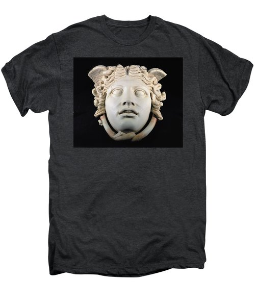 Rondanini Medusa, Copy Of A 5th Century Bc Greek Marble Original, Roman Plaster Men's Premium T-Shirt