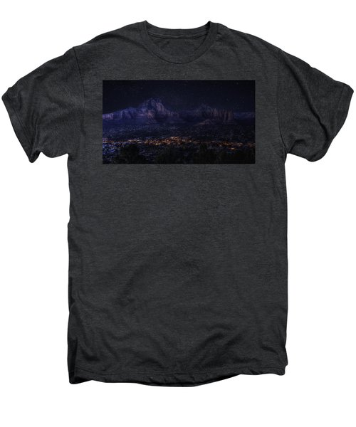 Sedona By Night Men's Premium T-Shirt by Lynn Geoffroy