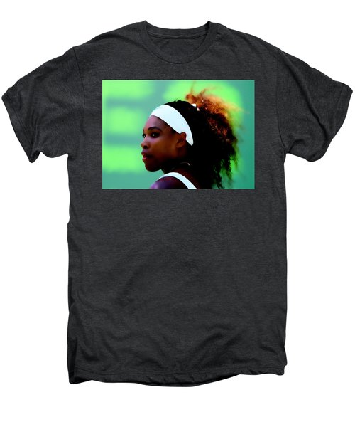 Serena Williams Match Point Men's Premium T-Shirt by Brian Reaves