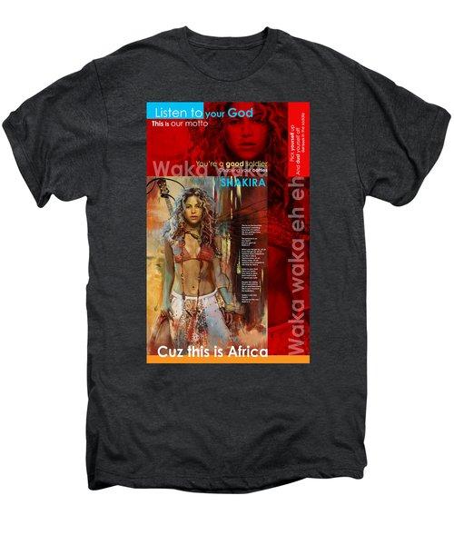 Shakira Art Poster Men's Premium T-Shirt by Corporate Art Task Force