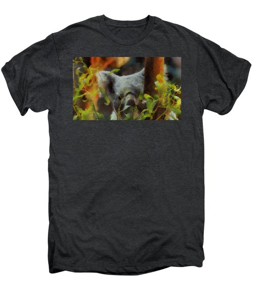 Shy Koala Men's Premium T-Shirt by Dan Sproul
