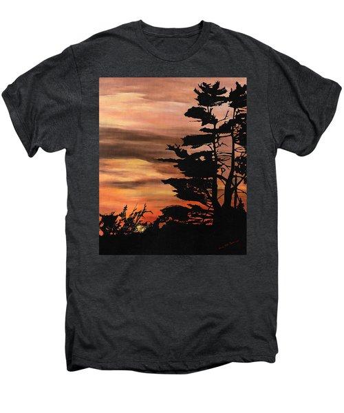 Silhouette Sunset Men's Premium T-Shirt