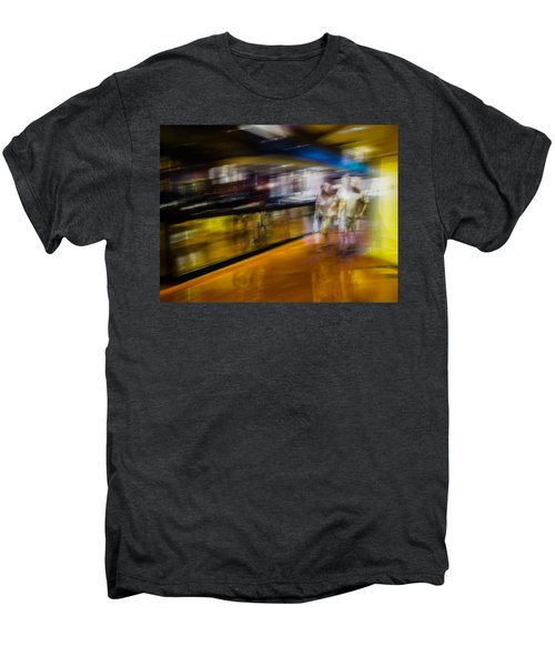 Men's Premium T-Shirt featuring the photograph Silver People In A Golden World by Alex Lapidus