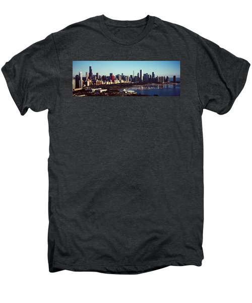 Skyscrapers At The Waterfront, Hancock Men's Premium T-Shirt by Panoramic Images