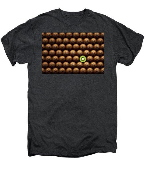 Sliced Kiwi Between Group Men's Premium T-Shirt by Johan Swanepoel