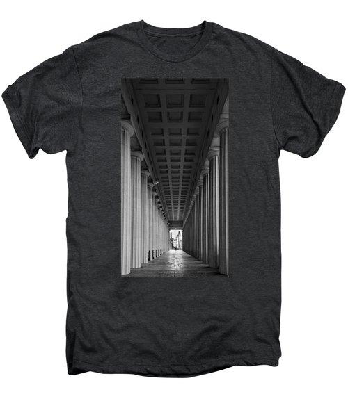 Soldier Field Colonnade Chicago B W B W Men's Premium T-Shirt by Steve Gadomski