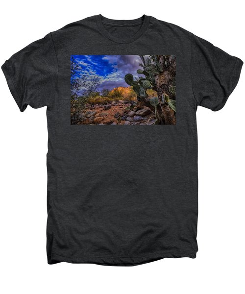 Men's Premium T-Shirt featuring the photograph Sonoran Desert 54 by Mark Myhaver