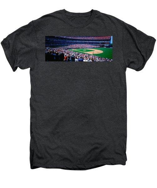 Spectators In A Baseball Stadium, Shea Men's Premium T-Shirt