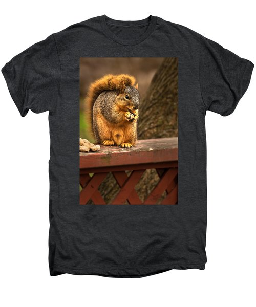 Squirrel Eating A Peanut Men's Premium T-Shirt