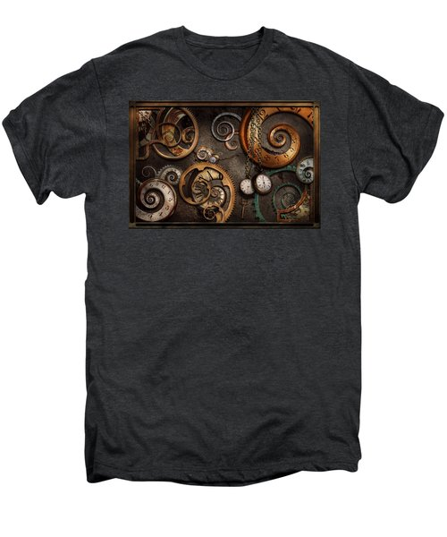 Steampunk - Abstract - Time Is Complicated Men's Premium T-Shirt