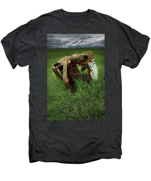 Steel Auto Carcass With Vultures Men's Premium T-Shirt