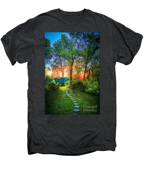 Stepping Stones To The Light Men's Premium T-Shirt