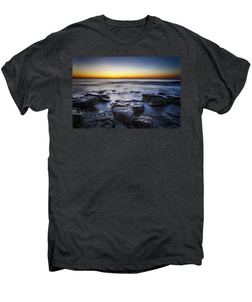 Sunrise At Cave Point Men's Premium T-Shirt by Scott Norris