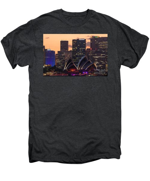 Sydney At Sunset Men's Premium T-Shirt by Matteo Colombo