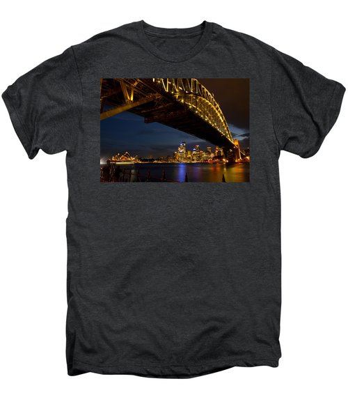 Men's Premium T-Shirt featuring the photograph Sydney Harbour Bridge by Miroslava Jurcik