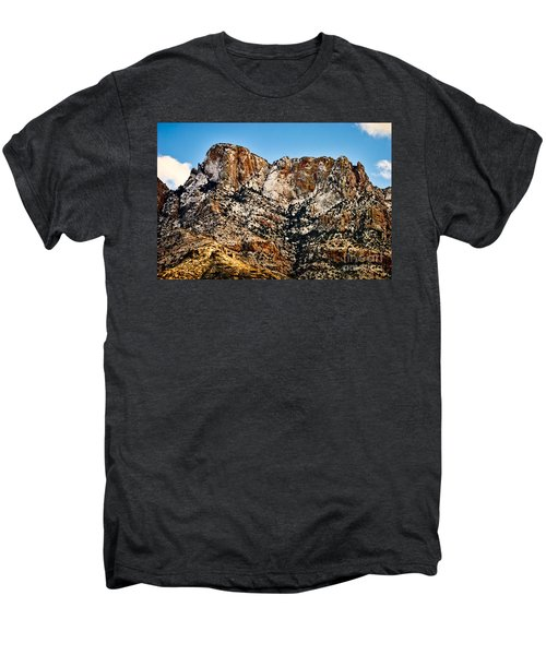 Men's Premium T-Shirt featuring the photograph Table Mountain In Winter 42 by Mark Myhaver