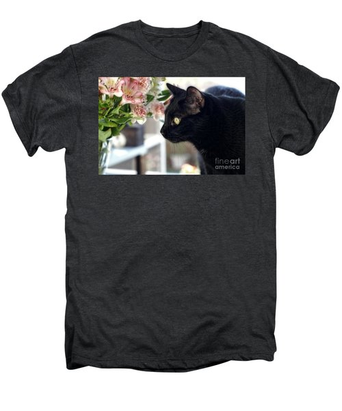 Take Time To Smell The Flowers Men's Premium T-Shirt by Peggy Hughes