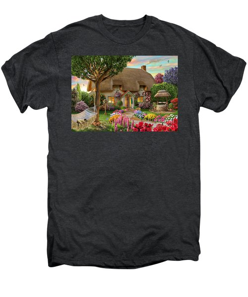Thatched Cottage Men's Premium T-Shirt by Adrian Chesterman