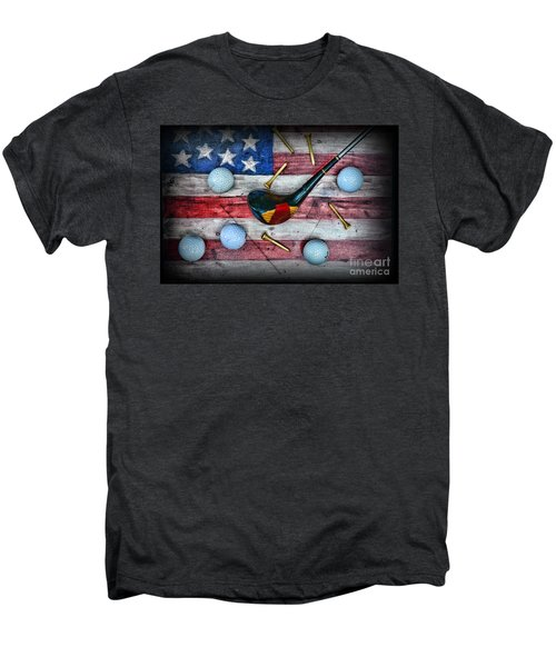 The All American Golfer Men's Premium T-Shirt by Paul Ward