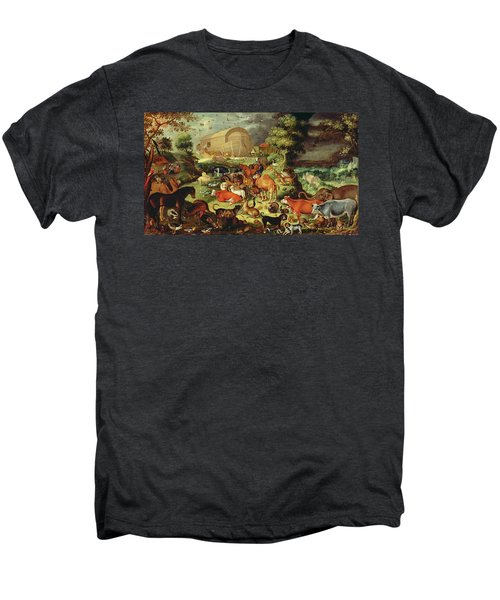 The Animals Entering The Ark Men's Premium T-Shirt by Jacob II Savery