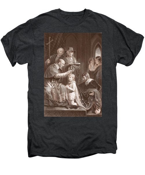 The Coronation Of Henry Vi, Engraved Men's Premium T-Shirt by John Opie