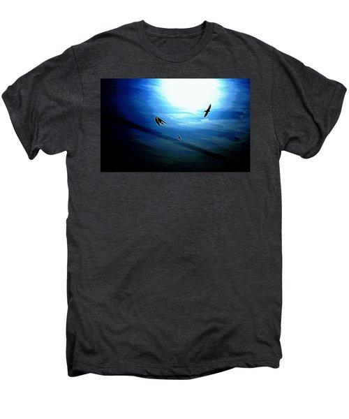 Men's Premium T-Shirt featuring the photograph The Flight by Miroslava Jurcik