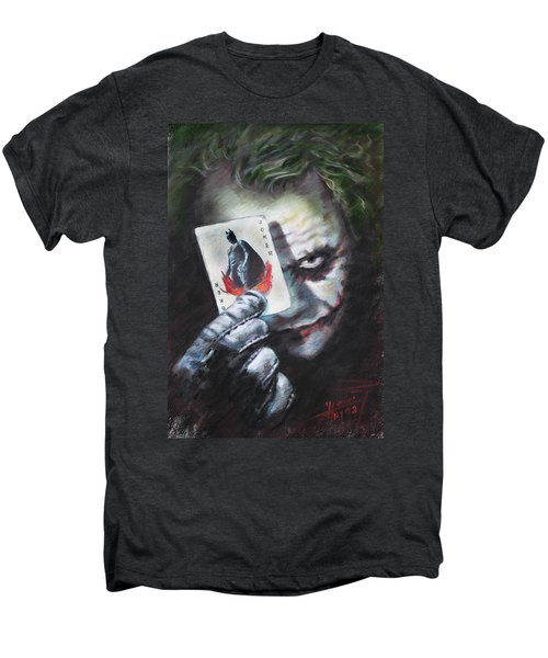 The Joker Heath Ledger  Men's Premium T-Shirt by Viola El